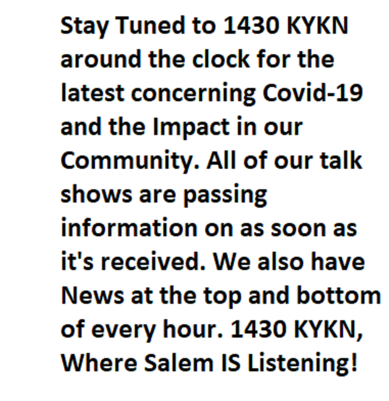 KYKN Covid19 Message